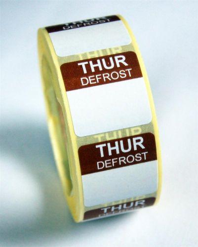 Mini Defrost Labels - Thursday
