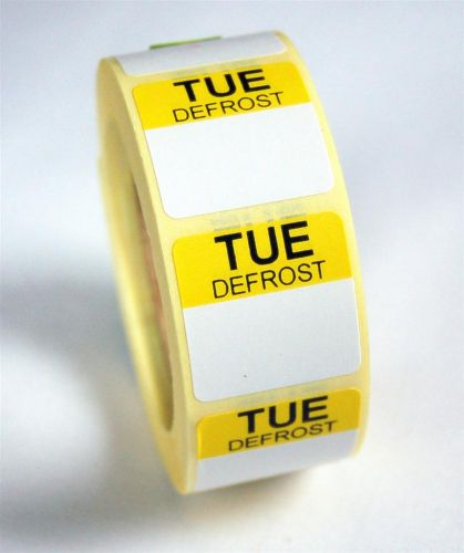 Mini Defrost Labels - Tuesday