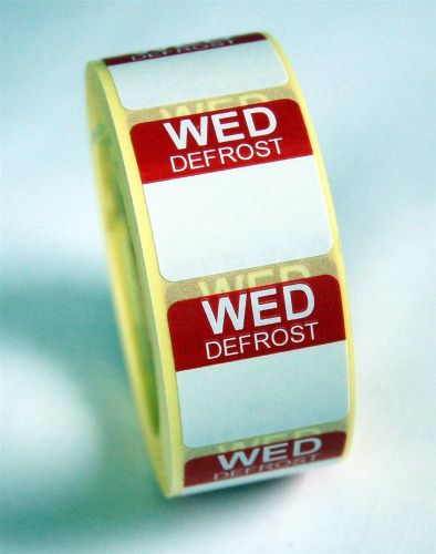 Mini Defrost Labels - Wednesday
