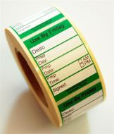 Peelable Midi Food Preparation Label - Friday