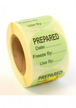 Peelable 'Prepared' Label