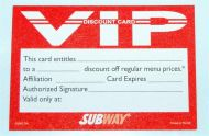 VIP Discount Club Card (1000)