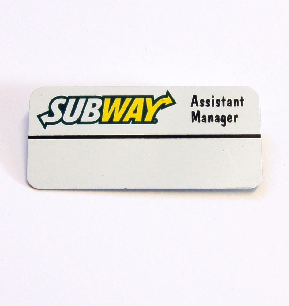 Assistant Manager Reusable Badges Badges Printway