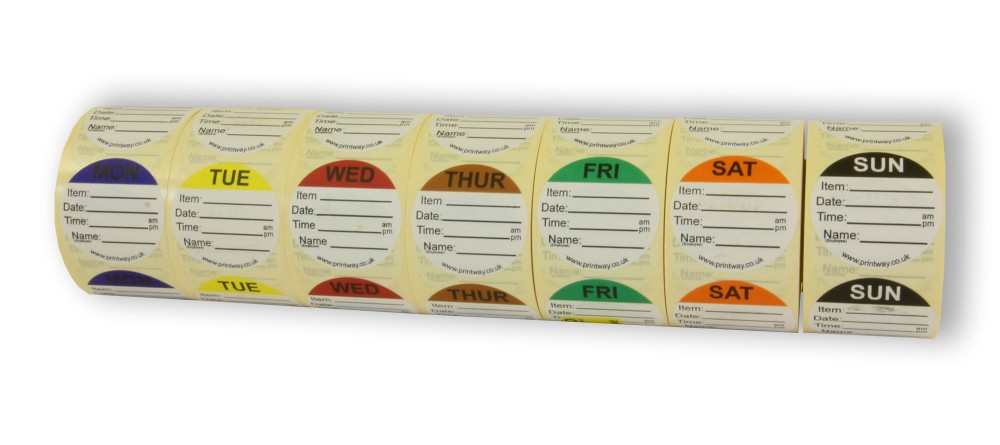 Combo Day Dots Prep Labels 7 Day Pack Food