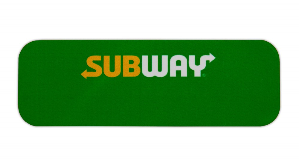 New Style Metal Reusable Name Badges With New Subway Logo